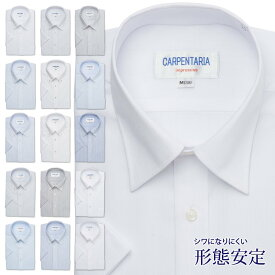 ワイシャツ 半袖 形態安定 メンズ Yシャツ カッターシャツ ビジネス クールビズ 標準体 CARPENTARIA DHPC23 DHPC24 21半 [P16S1PC01]