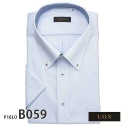 ワイシャツ半袖形態安定メンズ標準型L.O.X吸水速乾ビッグサイズ[P16S1X010]