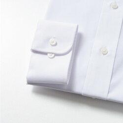ワイシャツ長袖形態安定メンズビジネスシャツ白標準型CARPENTARIAレギュラーカラーホワイトブロード定番多サイズ[R12CAR101]