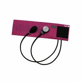 金石衛材 FOCAL アネロイド血圧計 FC-100V イージーリリースバルブ付 ナイロンカフ マゼンダ