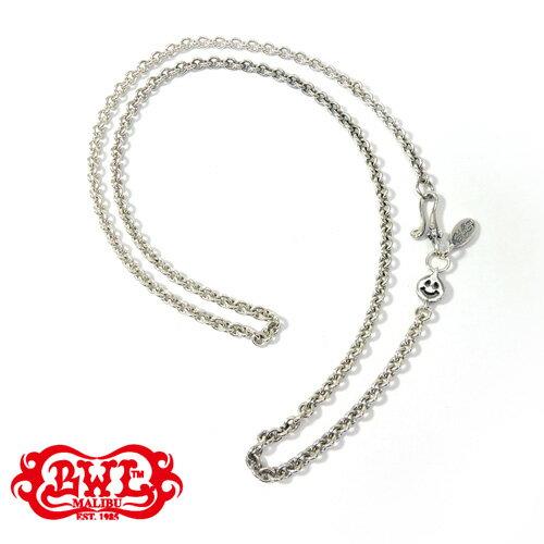 "【BWL】Bill Wall Leather ビルウォールレザー【送料無料】【あす楽】/Round Chain Necklace w/ Tiny Charm and Oval BWL Tag 21"" (Specify) ラウンドネックレスw/タイニーチャーム&オーバルBWLタグ/シルバーチェーン/21インチ/53cm"