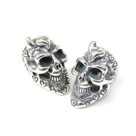 【BWL】Bill Wall Leather ビルウォールレザー【送料無料】【あす楽】Graffiti Skull Bead w/ 1 horn & heart (forehead) Stamps specify : Heart グラフィティスカルビーズw1ホーン&ハート&スタンプ/ハート/※※1個売り