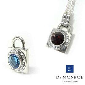 【Dr MONROE】ドクターモンロー南京錠シルバーメンズペンダント/ストーン/天然石