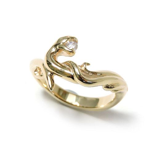 【GIGOR】ジゴロウ10KGクリーネスリングS/10KG/ゴールド/イエロー/蛇/スネーク/ヘビ