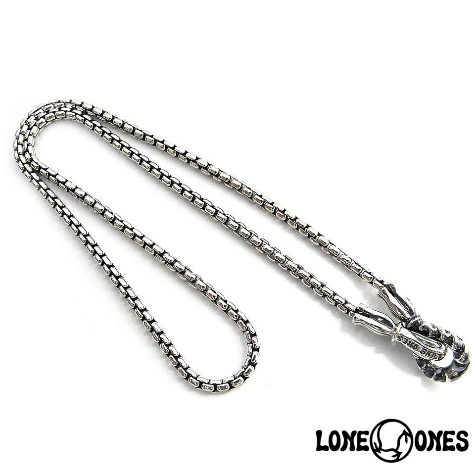 【LONE ONES】ロンワンズ【送料無料】【あす楽】/MF Hooks: Large - 2.6mm Box Chain MFフック:ラージ-2.6mmボックスチェーン/シルバーチェーン