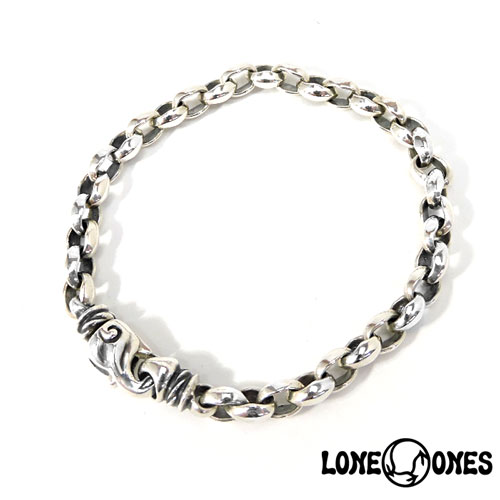 【LONE ONES】ロンワンズ【送料無料】【あす楽】/MF Bracelet: Silk Link - Extra Small - LobsterClasp シルクリンク-エクストラスモール-ロブスタークラスプ/シルク/シルクリンク/シルバー