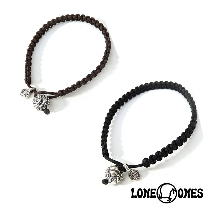 【LONE ONES】ロンワンズ【送料無料】【あす楽】/MF Bracelet: Macrame w/10mm Enbossed Nest マクラメw/10mm エンボスドネストブレスレット
