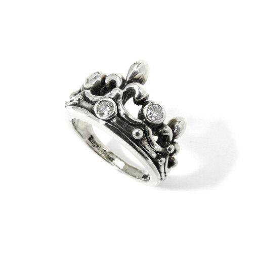 【ROYAL ORDER】ロイヤルオーダー【送料無料】【あす楽】/TIARA w/ DIAMONDS ティアラw/ダイアモンド/シルバーリング/ダイヤモンド