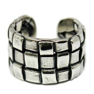 【VASSER】バッサーVintage Braided Ring(ビンテージブレイデッドリング) 小指向けフリーサイズ/リング/編みレザー/シルバー/タイリング/シンプル/アクセサリー/メンズ/レディース