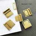 Bookmark Clips【 ブックマーク クリップ 6個入 】インデックス ラベル ネーム プレート ホルダー ビンテージ 加工 ア…