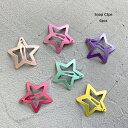 スター 星型 パッチンピン 6個 OUTLETアウトレット パッチンどめ ヘアピン ベビー アクセ ヘアクセサリー ガール 子供…