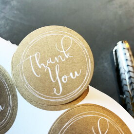 Thank You【カリグラフィー ゴールド】丸型 115枚結婚式 thank you サンキュー シール ありがとう サンキュータグ プチギフト ステッカー サンキュータグ サンキューシール ギフトシール