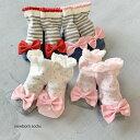 大きなグログランリボン 靴下 日本製【8-11cm・0-10ヶ月頃】mimi ミミ ソックスベビー made in Japan 新生児 ソックス 単品 出産祝い 女の子