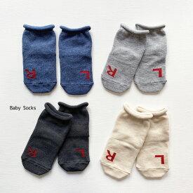 Knock Knock LRクルー丈ソックス 単品 日本製ベビー 赤ちゃん ソックス 靴下 ベビーソックス