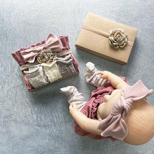 出産祝い女の子【アラン模様&コーデュロイバルーンブルマBOX】日本製箱入り紙袋靴下8-11cmラッピングブルマスカートヘアクリップリトルワン出産祝プレゼントGiftSetギフトセットギフトBOXLITTLEONEベビー服女の子くすみカラー80出産祝い