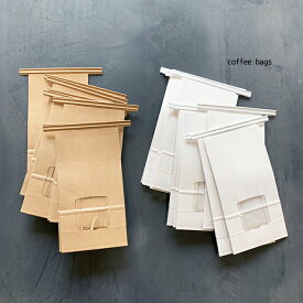 coffee bags コーヒー豆袋 窓付 10枚入 90×55×170クラフト お米 コーヒー 袋 バック ラッピング ギフトバック