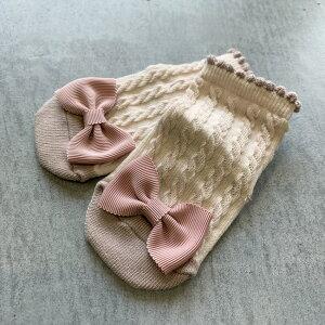 大きなグログランリボン靴下日本製【8-11cm・0-10ヶ月頃】mimiミミソックスベビーmadeinJapan新生児ソックス単品出産祝い女の子