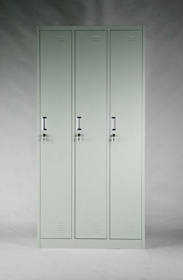 送料無料 新品 スチールロッカー スチールキャビネット キャビネット 3人用 10-014