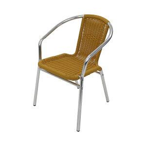 送料無料 アルミチェア 1脚 人工ラタン ダイニングチェア ロビーチェア ガーデンチェア ラタンチェア スタッキングチェア 会議椅子 ラウンジチェア 軽量で持ち運び簡単 ビーチチェア アル