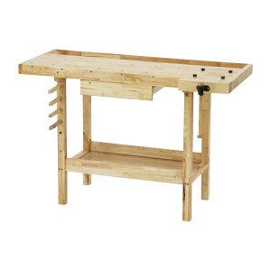 送料無料 W126 木工作業台 木工用作業台 木製作業台 工作作業台 木製工作作業台 作業台 木製 バイス 工作用 木工用 デスク 机