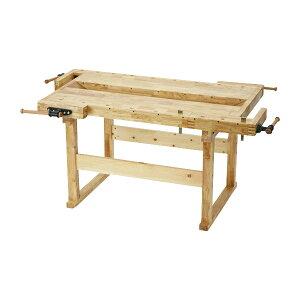 送料無料 W186 木工作業台 木工用作業台 木製作業台 工作作業台 木製工作作業台 作業台 木製 バイス 工作用 木工用 デスク 机