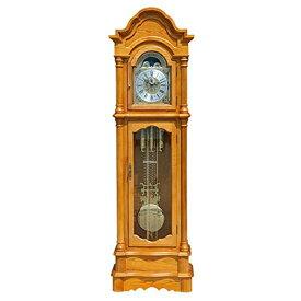 送料無料 新品 最高級 ホールクロック ナチュラルカラー ドイツ製ムーブメント オークソリッド材 完成品 柱時計 大型置き時計 置時計 振り子 機械式 グランドファーザーズクロック フロアクロック フロア—クロック 0519na