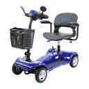 送料無料 電動シニアカート 青 電動カート シルバーカー サイドミラー 車椅子 TAISコード取得済 運転免許不要 電動車…