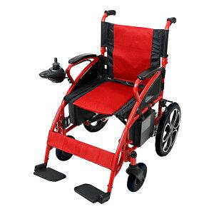 送料無料 新品 電動車椅子 赤 折りたたみ 車椅子 TAISコード取得済 コンパクト ノーパンクタイヤ 電動 手動 充電 電動ユニット 電動アシスト 電動カート 折り畳み 車椅子 車イス 車いす 四輪