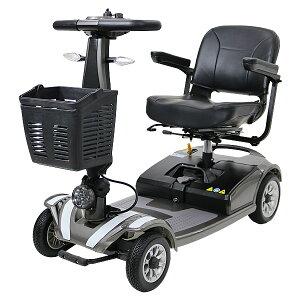 送料無料 新品 電動シニアカート グレー シルバーカー 車椅子 TAISコード取得済 運転免許不要 折りたたみ 軽量 コンパクト 電動カート 四輪車 4輪車 移動 高齢者 充電 シート回転 電動車いす