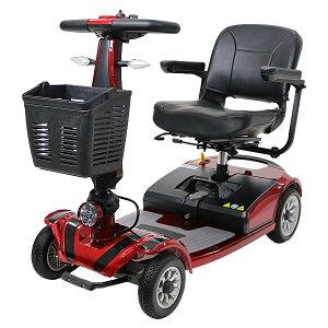 送料無料 新品 電動シニアカート 赤 シルバーカー 車椅子 TAISコード取得済 運転免許不要 折りたたみ 軽量 コンパクト 電動カート 四輪車 4輪車 移動 高齢者 充電 シート回転 電動車いす 電動