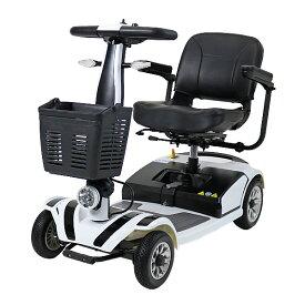 送料無料 新品 電動シニアカート 白 シルバーカー 車椅子 PSE適合 TAISコード取得済 運転免許不要 折りたたみ 軽量 コンパクト 電動カート 四輪車 4輪車 移動 高齢者 充電 シート回転 電動車いす 電動車椅子 介護 福祉 お年寄り 老人 スクーター ホワイト scooterd01wh