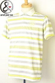 アンパスィ and per se半袖ポロシャツ メンズ 2021春夏新作 送料無料M-L-LL トップス ゴルフ アンパスィあす楽_翌日着荷可
