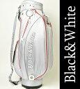 【2017春夏新作】【送料無料】ブラック&ホワイト キャディバッグ【Black&White】【8.5型】【46インチ】【3.0kg】【レディース】【ゴルフ】【ブ...