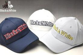 【30%OFFセール】【2019春夏新作】ブラック&ホワイト キャップ【Black&White】【帽子】【メンズ】【ゴルフ】【ブラック アンド ホワイト】【あす楽_翌日着荷可】