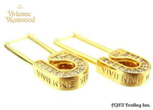 Vivienne Westwood ヴィヴィアンウエストウッド Cookie Large Earrings 安全ピン モチーフ ピアス(GOLD)【あす楽対応】【YDKG-k】【W3】【送料無料】