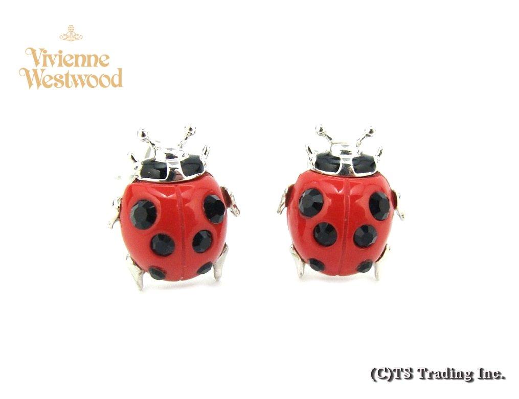 Vivienne Westwood ヴィヴィアンウエストウッド★Ladybird Stud Pierced Earrings ☆てんとう虫 オーブ ピアス (SV)【あす楽対応】【YDKG-k】【W3】【送料無料】【smtb-k】