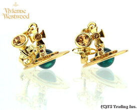 Vivienne Westwood ヴィヴィアンウエストウッド★New Petite Orb Pierced Earrings(GOLD)新・プチ オーブ ピアス (GOLD BLUE Multi)【あす楽対応】【YDKG-k】【W3】【送料無料】【smtb-k】
