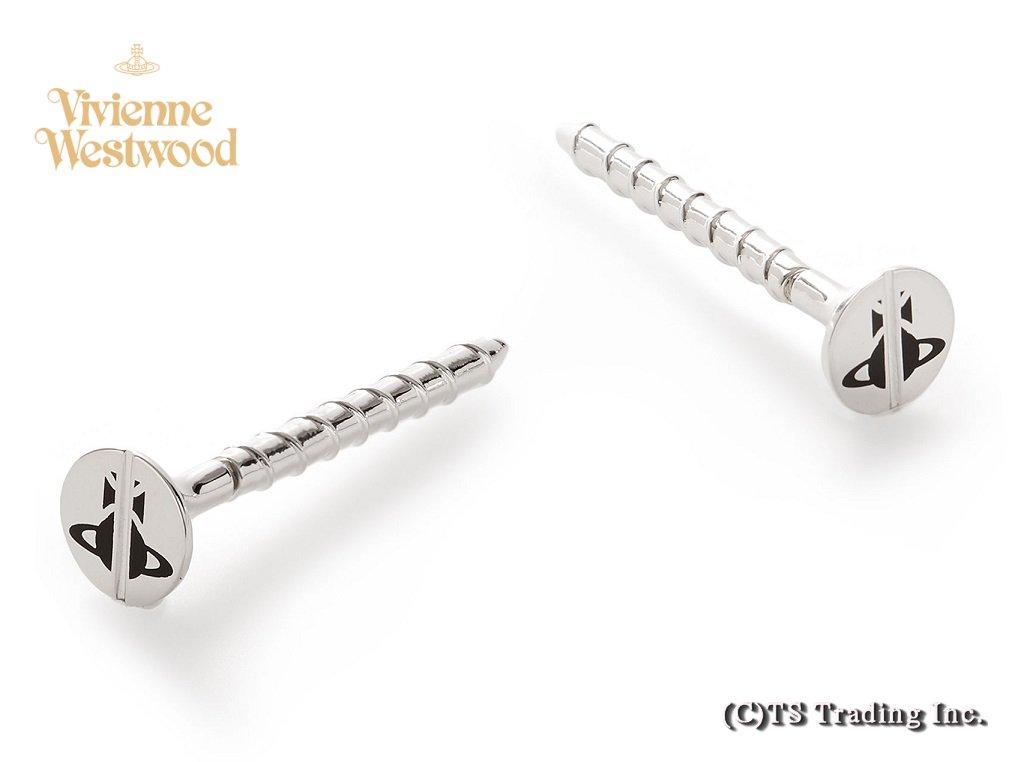 Vivienne Westwood ヴィヴィアンウエストウッド★Screw Orb Pierced Earrings ネジ型 ORB スクリュー ピアス (SV)【あす楽対応】【YDKG-k】【W3】【送料無料】【smtb-k】