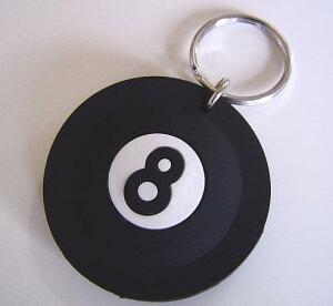 ◆8-Ball◆8ボール☆ラバー キーリング◆London ストリート マーケットから直輸入♪