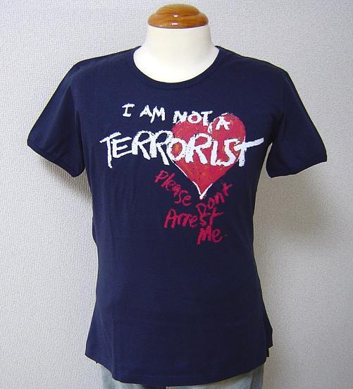 ◆Vivienne Westwood◆ヴィヴィアンウエストウッド★I am not a Terrorist.Please don't Arrest me. Tシャツ NV【あす楽対応】【送料無料】【smtb-k】