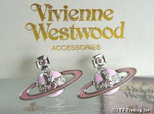 Vivienne Westwood ヴィヴィアンウエストウッド ★Small Neo Bas Orb Pierced Earrings スモール ネオ バス オーブ ピアス ピアス PINK【あす楽対応】【送料無料】【YDKG-k】【W3】