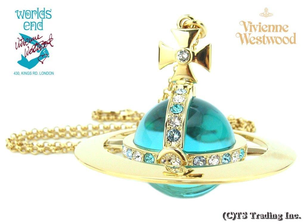 Vivienne New Giant Orb ペンダント GOLD BLUE Aqua ヴィヴィアンウエストウッド 希少 激レア ジャイアント オーブ ペンダント ワールズエンド 最新版【あす楽対応】【送料無料】【smtb-k】【YDKG-k】【W3】