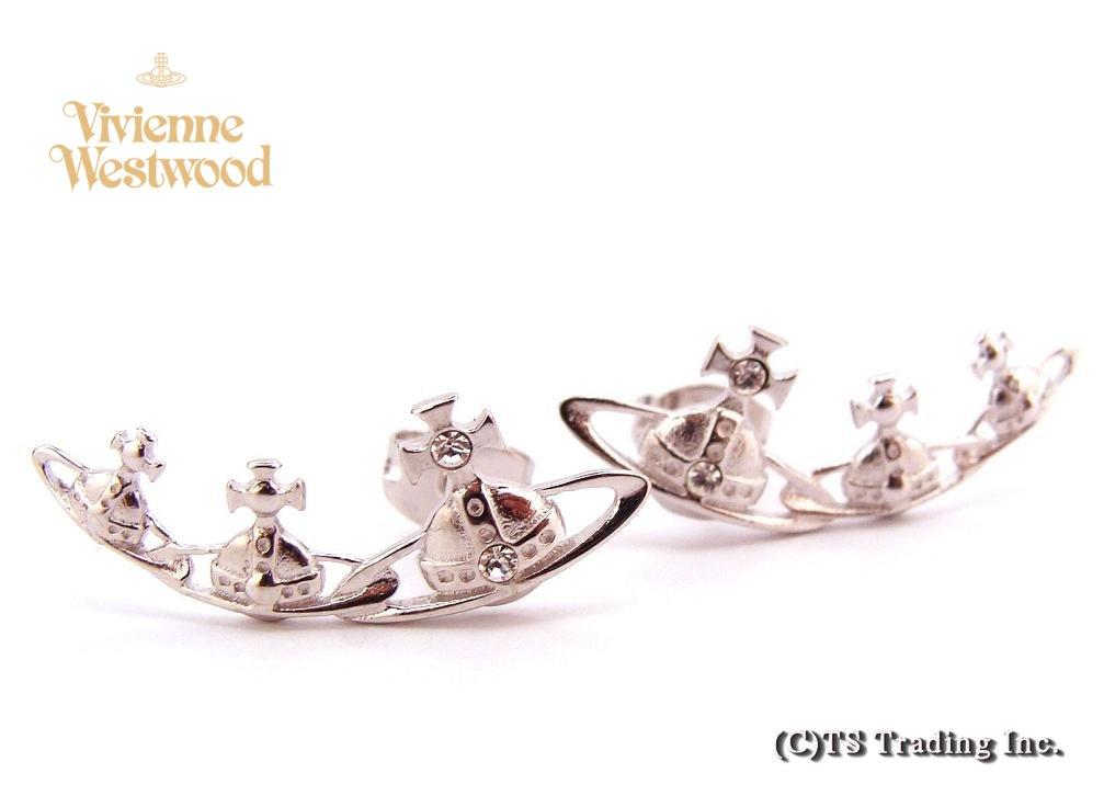 Vivienne Westwood ヴィヴィアンウエストウッド★Candy Orb Stud Pierced Earrings キャンディ 3連オーブ ピアス (SV)【あす楽対応】【YDKG-k】【W3】【送料無料】