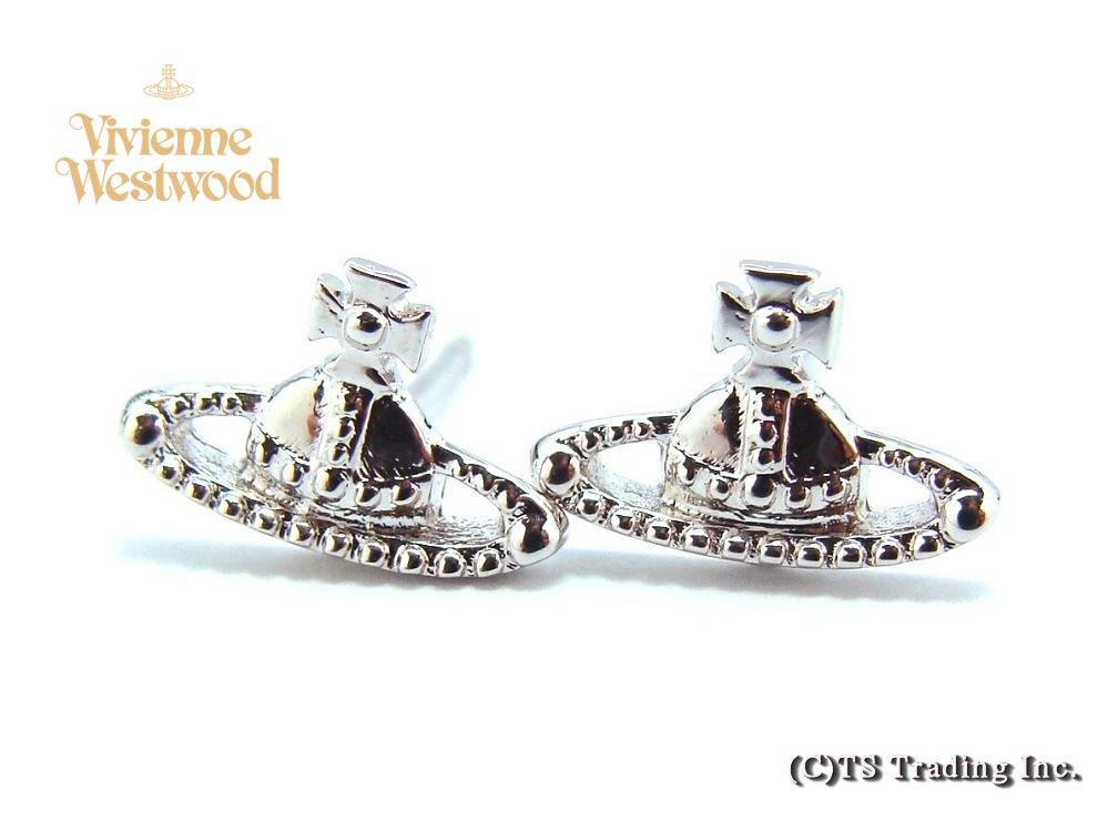 Vivienne Westwood ヴィヴィアンウエストウッド★Farah Orb Pierced Earrings☆ファラー オーブ ピアス(SV)【あす楽対応】【送料無料】