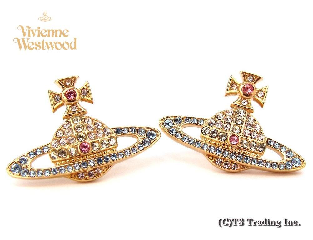Vivienne Westwood ヴィヴィアンウエストウッド Kika Orb Pierced Earrings☆キカ オーブ ピアス (AQUA)【あす楽対応】【YDKG-k】【W3】【送料無料】