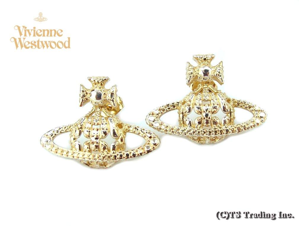 Vivienne Westwood ヴィヴィアンウエストウッド★Radha Bas Relief Orb Pierced Earrings ☆ラーダ バス オーブ ピアス(GO)【あす楽対応】【YDKG-k】【W3】【送料無料】