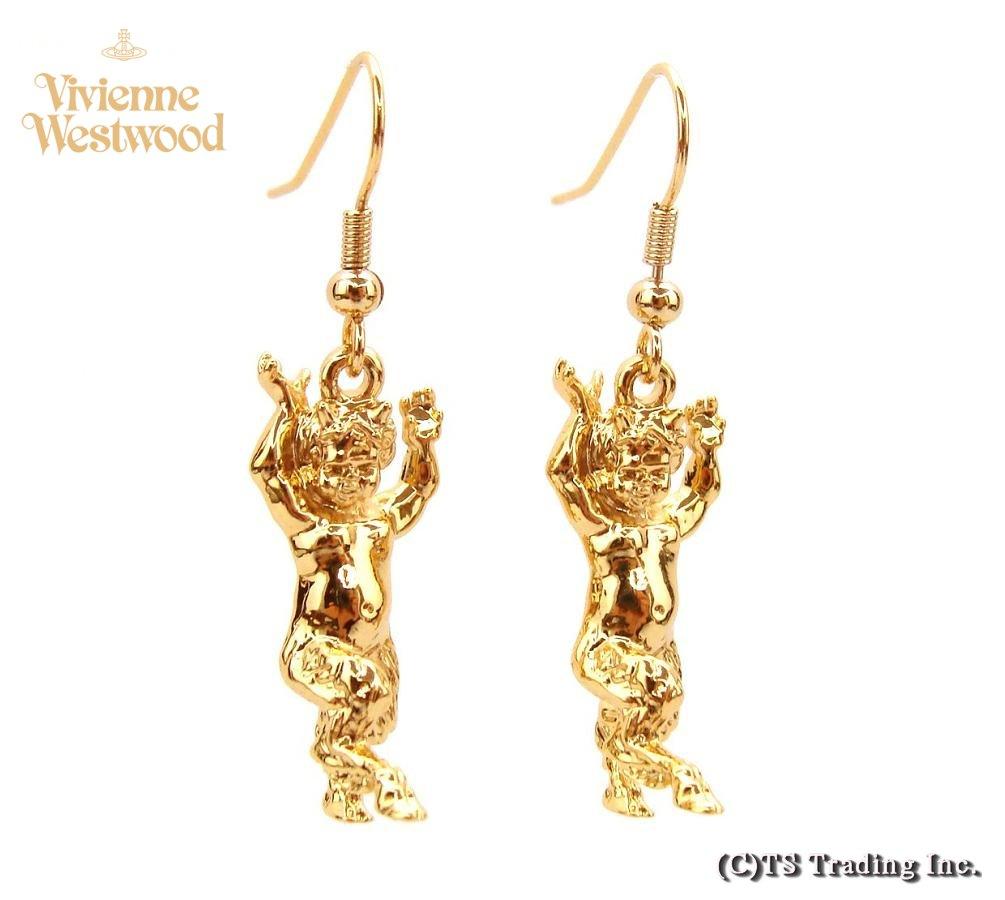 Vivienne Westwood ヴィヴィアンウエストウッド Satyr Drop Orb Pierced Earrings on Hook☆サティア モチーフ ドロップ ピアス (GOLD)【あす楽対応】【YDKG-k】【W3】【送料無料】