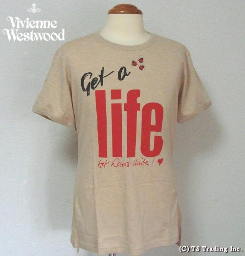◆Vivienne Westwood◆ヴィヴィアンウエストウッド★Get a Life Tee World's End Specialゲット ア ライフ Tシャツ by ワ—ルズエンド(Natural BR)【あす楽対応】【YDKG-k】【W3】【送料無料】【smtb-k】