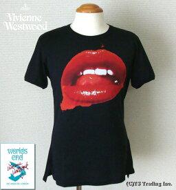 ◆Vivienne Westwood◆ヴィヴィアンウエストウッド★Worlds End Lip Print Tee ワ—ルズエンド マンソン リップ プリント Tシャツ(BK)【あす楽対応】【YDKG-k】【W3】【送料無料】【smtb-k】