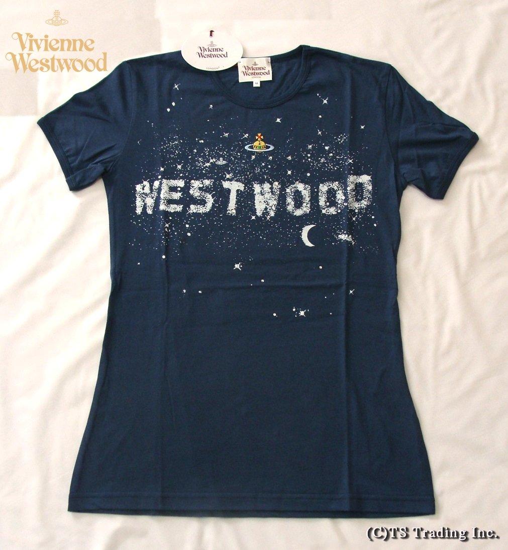 Vivienne Westwood ヴィヴィアンウエストウッド ★Milky Way Tee ミルキーウェイ Tシャツ (NV-CTO)【あす楽対応】【YDKG-k】【W3】【送料無料】